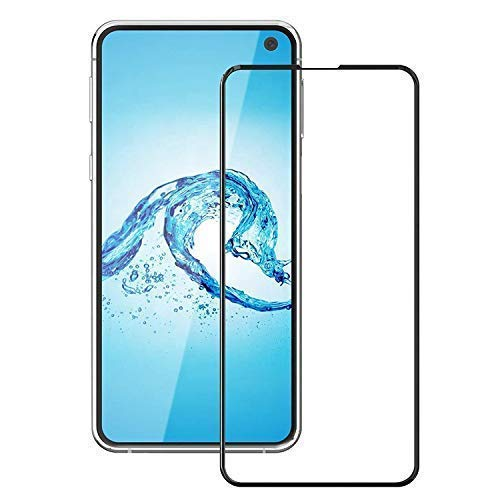 Tigerify Tempered Glass/Screen Protector for Samsung Galaxy S10E (Black Color) Edge To Edge Full Screen Coverage and Full Glue 1