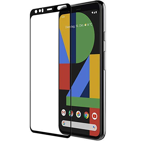 Tigerify Tempered Glass/Screen Protector Guard for Pixel 4XL (BLACK COLOR) Edge To Edge Full Screen 1