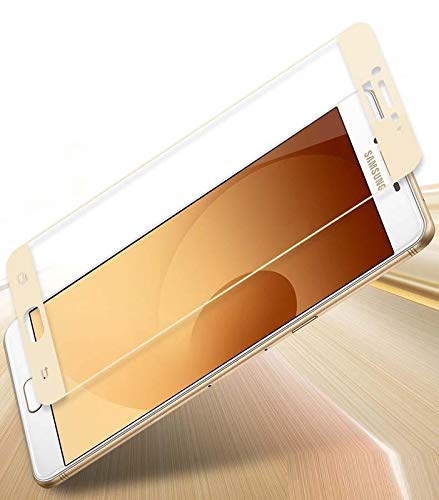 Tigerify Tempered Glass/Screen Protector for Samsung Galaxy C9 Pro (Gold Color) Edge To Edge Full Screen Coverage and Full Glue 1