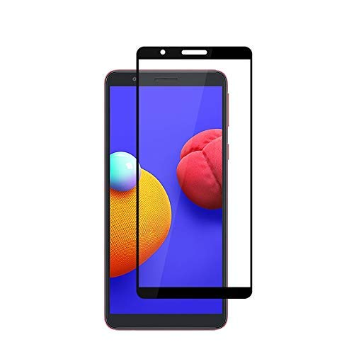 Tigerify Tempered Glass/Screen Protector for Samsung Galaxy M01 Core (Black Color) Edge To Edge Full Screen Coverage and Full Glue 1