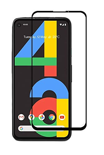 Tigerify Tempered Glass/Screen Protector Guard for Google Pixel 4A (Black Colour) Edge To Edge Full Screen 1