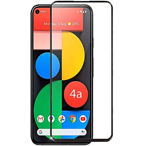 Tigerify Tempered Glass/Screen Protector Guard for Google Pixel 4A (Black Color) Edge To Edge Full Screen 1