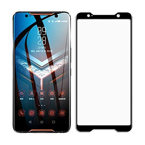 Tigerify Tempered Glass/Screen Protector for Asus ROG (Black Color) Edge To Edge Full Screen Coverage and Full Glue 1