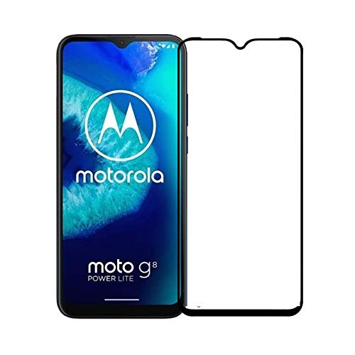 Tigerify Tempered Glass/Screen Protector for Moto G8 Power Lite (Black Color) Edge To Edge Full Screen Coverage and Full Glue 1