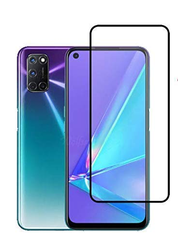 Tigerify Tempered Glass/Screen Protector for Oppo A72 (Black Color) Edge To Edge Full Screen Coverage and Full Glue 1