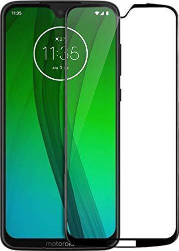 Tigerify Tempered Glass/Screen Protector for Moto G7 (Black Color) Edge To Edge Full Screen Coverage and Full Glue 1