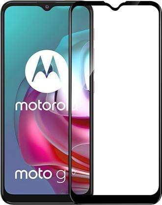Tigerify Tempered Glass/Screen Protector for Moto G30 (Black Color) Edge To Edge Full Screen Coverage and Full Glue 1