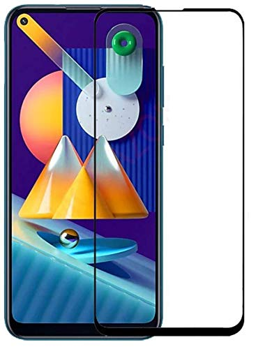 Tigerify Tempered Glass/Screen Protector for Samsung Galaxy A11 (Black Color) Edge To Edge Full Screen Coverage and Full Glue 1