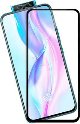 Tigerify Tempered Glass/Screen Protector for Vivo V17 Pro (Black Color) Edge To Edge Full Screen Coverage and Full Glue 1