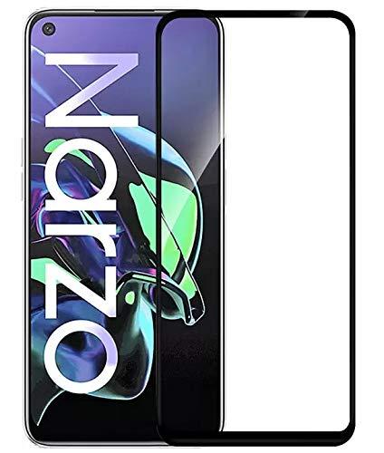 Tigerify Tempered Glass/Screen Protector Guard for Realme Narzo 30 Pro (BLACK COLOR) Edge To Edge Full Screen 6D 1
