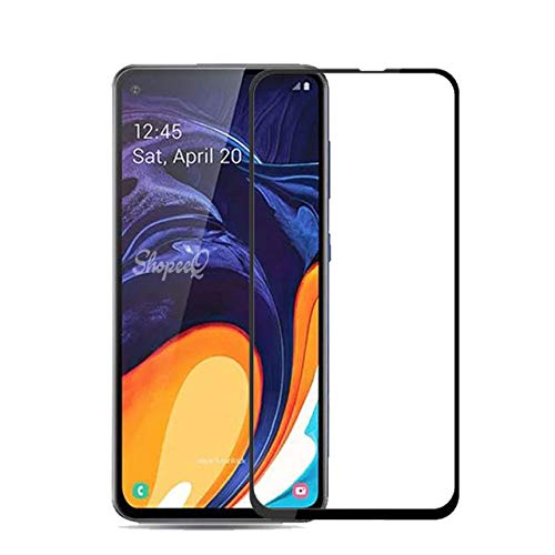 Tigerify Tempered Glass/Screen Protector for Samsung Galaxy A60 (Black Color) Edge To Edge Full Screen Coverage and Full Glue 1