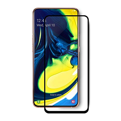 Tigerify Tempered Glass/Screen Protector for Samsung Galaxy A80 (Black Color) Edge To Edge Full Screen Coverage and Full Glue 1