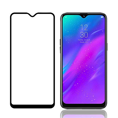 Tigerify Tempered Glass/Screen Protector for REALME 3 (Black Color) Edge To Edge Full Screen Coverage and Full Glue 1