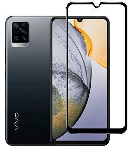 Tigerify Tempered Glass/Screen Protector for VIVO V20 SE (Black Color) Edge To Edge Full Screen Coverage and Full Glue 1
