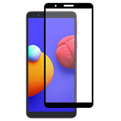 Tigerify Tempered Glass/Screen Protector for Samsung Galaxy A01 Core (Black Color) Edge To Edge Full Screen Coverage and Full Glue 1