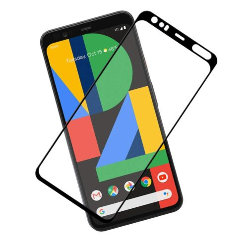 Tigerify Tempered Glass/Screen Protector Guard for Pixel 4XL (BLACK) Edge To Edge Full Screen 1