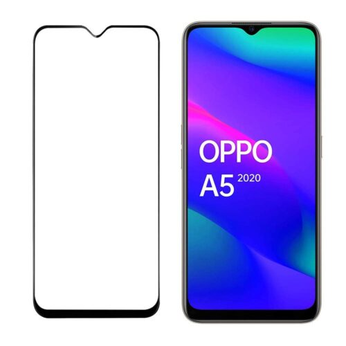 Tigerify Tempered Glass/Screen Protector for Oppo A5 2020 (Black Color) Edge To Edge Full Screen Coverage and Full Glue 1