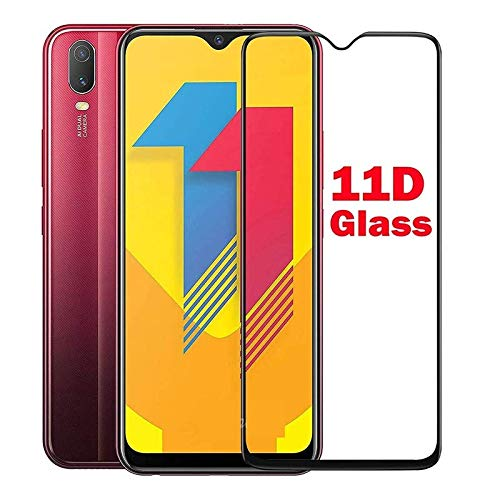Tigerify Tempered Glass/Screen Protector for Vivo Y11 (2019) (Black Color) Edge To Edge Full Screen Coverage and Full Glue 1