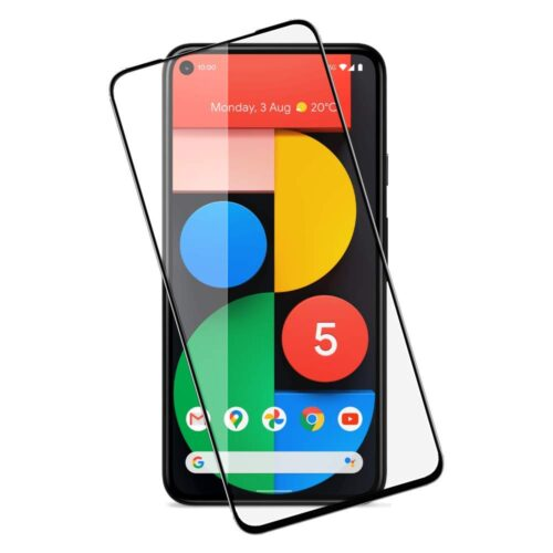Tigerify Tempered Glass/Screen Protector Guard for Google Pixel 4A (Black Colour) Edge To Edge Full Screen 11D 1