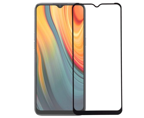 Tigerify Tempered Glass/Screen Protector for REALME C3 (Black Color) Edge To Edge Full Screen Coverage and Full Glue 1