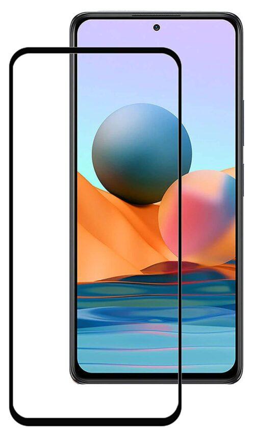 Tigerify Tempered Glass/Screen Protector Guard for Redmi Note 10 Pro (BLACK COLOUR) Edge To Edge Full Screen Coverage 1