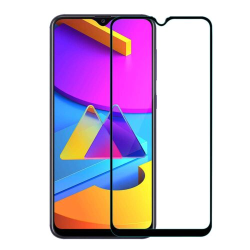 Tigerify Tempered Glass/Screen Protector for Samsung Galaxy M10S (Black Color) Edge To Edge Full Screen Coverage and Full Glue 1