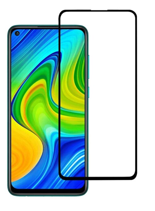 Tigerify Tempered Glass/Screen Protector for Redmi Note 9 (Black Color) Edge To Edge Full Screen Coverage and Full Glue 1