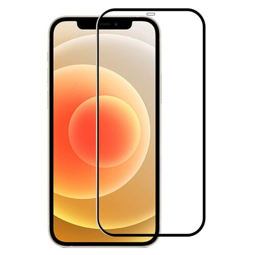 Tigerify Tempered Glass/Screen Protector for iPhone 12 Pro (Black Color) Edge To Edge Full Screen Coverage and Full Glue 1