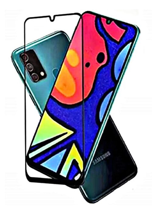 Tigerify Tempered Glass/Screen Protector for Samsung Galaxy A50 (Black Color) Edge To Edge Full Screen Coverage and Full Glue 1