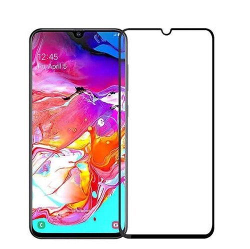 Tigerify Tempered Glass/Screen Protector for Samsung Galaxy A70S (Black Colour) Edge To Edge Full Screen Coverage and Full Glue 1