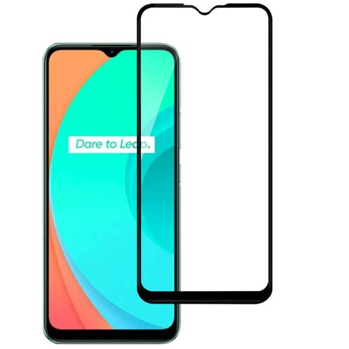 Tigerify Tempered Glass/Screen Protector for Realme C11 (Black Color) Edge To Edge Full Screen Coverage and Full Glue 1