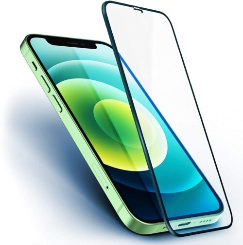 Tigerify Tempered Glass/Screen Protector for iPhone 12 Mini (Black Colour) Edge To Edge Full Screen Coverage and Full Glue 1