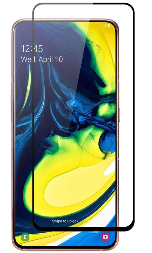 Tigerify Tempered Glass/Screen Protector for Samsung Galaxy A90 (Black Color) Edge To Edge Full Screen Coverage and Full Glue 1