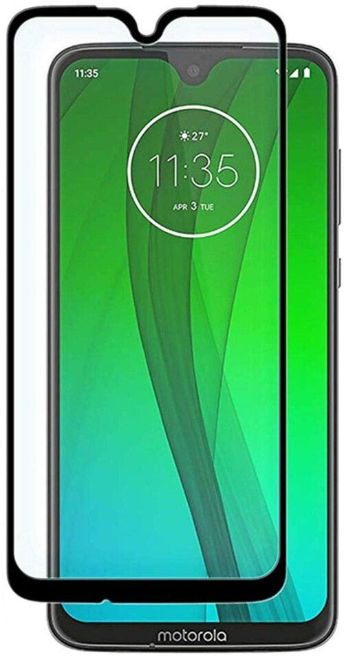 Tigerify Tempered Glass/Screen Protector for Moto G7 Plus (Black Color) Edge To Edge Full Screen Coverage and Full Glue 1
