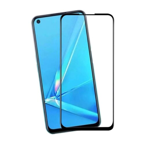Tigerify Tempered Glass/Screen Protector for Oppo A92 (Black Color) Edge To Edge Full Screen Coverage and Full Glue 1