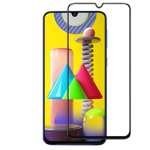 Tigerify Tempered Glass/Screen Protector for Samsung Galaxy M31 (Black Color) Edge To Edge Full Screen Coverage and Full Glue 1