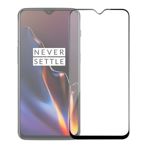 Tigerify Tempered Glass/Screen Protector for OnePlus 7 (Black Color) Edge To Edge Full Screen Coverage and Full Glue 1