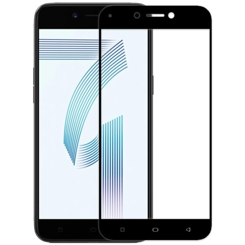 Tigerify Tempered Glass/Screen Protector for Oppo A71 (Black Color) Edge To Edge Full Screen Coverage and Full Glue 1