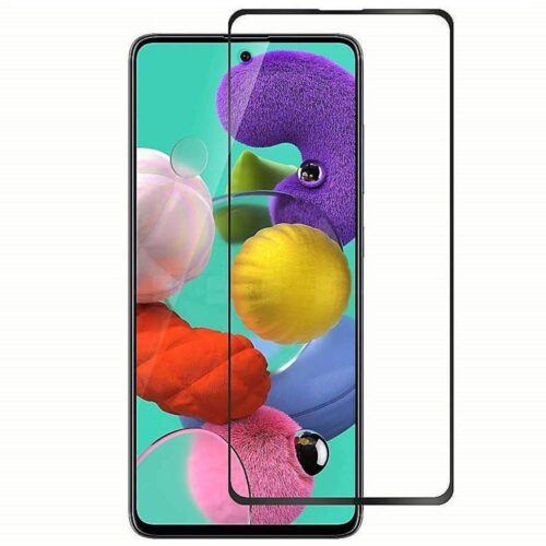Tigerify Tempered Glass/Screen Protector for Samsung Galaxy A71 (Black Color) Edge To Edge Full Screen Coverage and Full Glue 1
