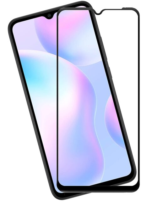 Tigerify Tempered Glass/Screen Protector for Redmi 9 Power (Black Color) Edge To Edge Full Screen Coverage and Full Glue 1