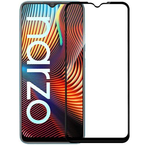 Tigerify Tempered Glass/Screen Protector for Realme Narzo 20A (Black Color) Edge To Edge Full Screen Coverage and Full Glue 1