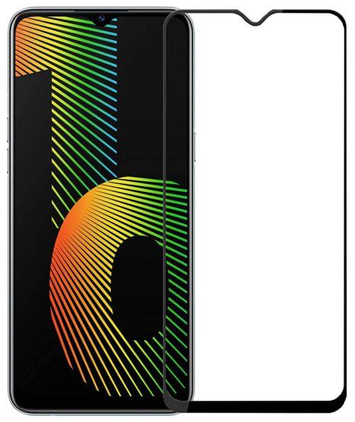 Tigerify Tempered Glass/Screen Protector for Realme Narzo 10 (Black Color) Edge To Edge Full Screen Coverage and Full Glue 1