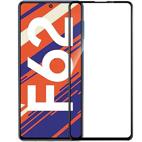 Tigerify Tempered Glass/Screen Protector for Samsung?Galaxy?F62 (Black Color) Edge To Edge Full Screen Coverage and Full Glue 1