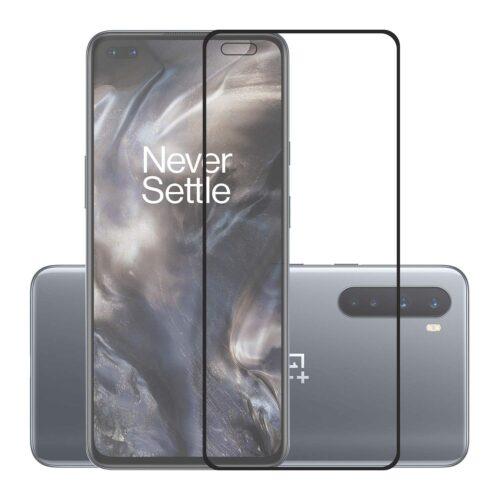 Tigerify Tempered Glass/Screen Protector for OnePlus Nord (Black Color) Edge To Edge Full Screen Coverage and Full Glue 1