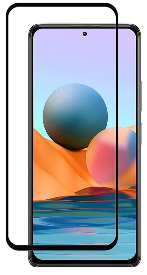 Tigerify Tempered Glass/Screen Protector Guard for Redmi Note 10 Pro Max (BLACK COLOR) Edge To Edge Full Screen 11D 1