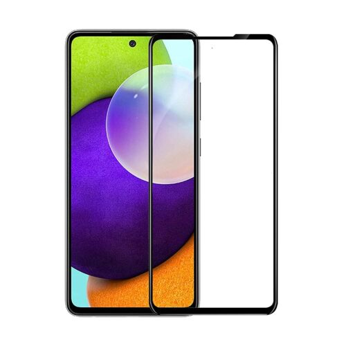 Tigerify Tempered Glass/Screen Protector for Samsung Galaxy A52 (Black Color) Edge To Edge Full Screen Coverage and Full Glue 1