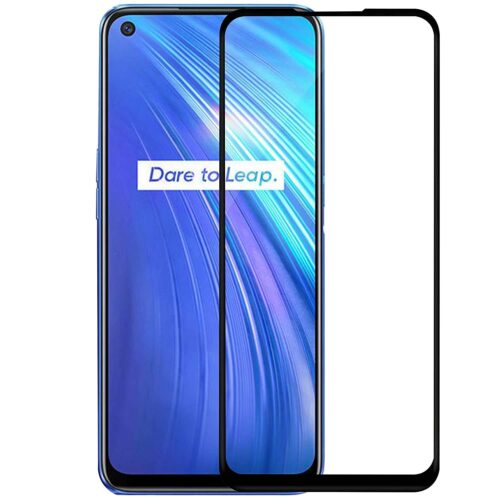 Tigerify Tempered Glass/Screen Protector for Realme 7 (Black Color) Edge To Edge Full Screen Coverage and Full Glue 1