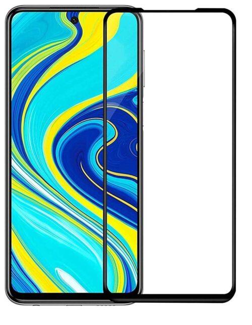 Tigerify Tempered Glass/Screen Protector for Redmi Note 9 Pro (Black Color) Edge To Edge Full Screen Coverage and Full Glue 1