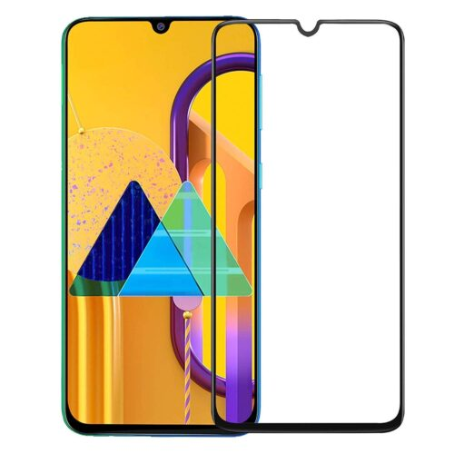 Tigerify Tempered Glass/Screen Protector for Samsung Galaxy A20 (Black Color) Edge To Edge Full Screen Coverage and Full Glue 1
