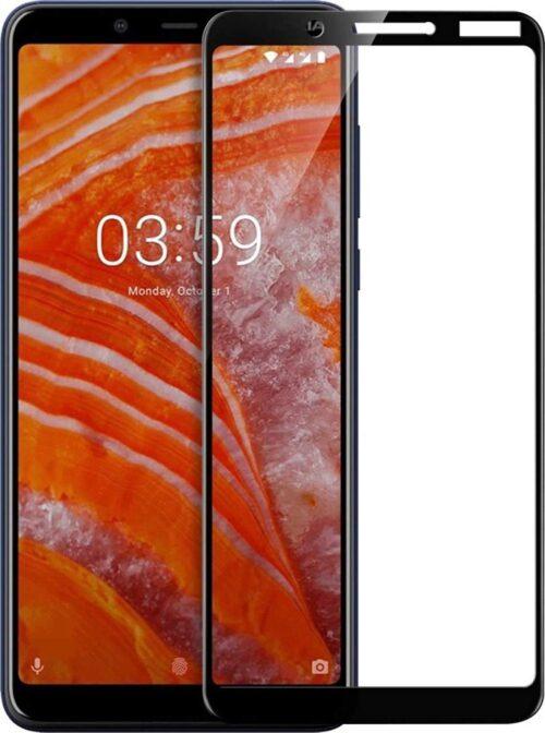 Tigerify Tempered Glass/Screen Protector Guard for Nokia C2 (Black Colour) Edge To Edge Full Screen 11D 1
